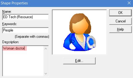 Adding keywords to shapes