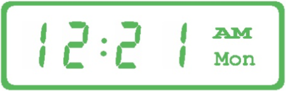 digital clock model object in processmodel