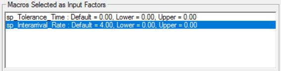 Macros selected as input factors