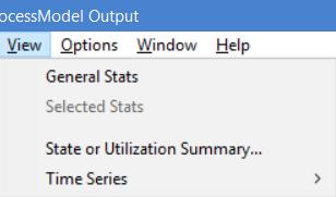 Output detail report of ProcessModel - View Menu