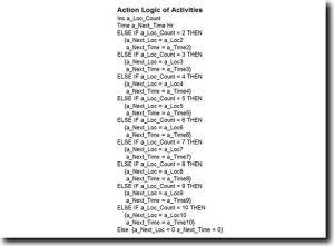 Process Simulation Action Logic