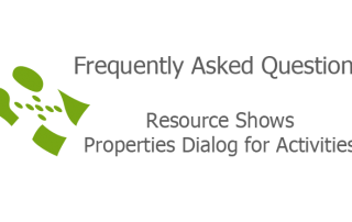 Resource Shows Properties Dialog for Activities