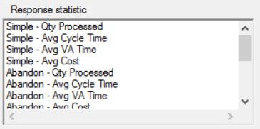 Response statistics of simrunner