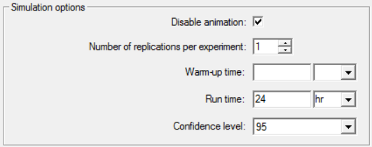 Simulation options in simrunner