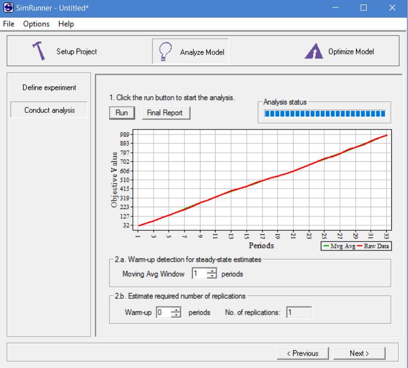 Start analysis in simrunner