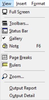View menu of ProcessModel simulation software
