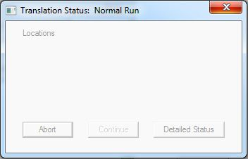 Translation Status: Normal Run