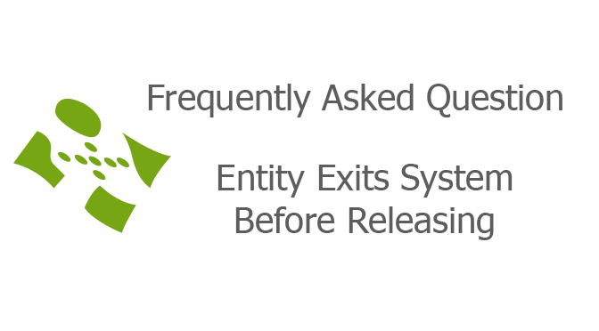 Entity Exits System Before Releasing