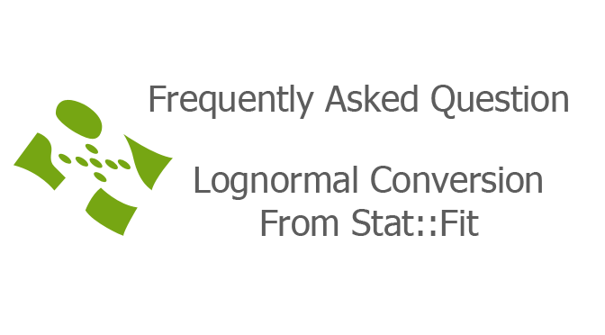 Lognormal Conversion From Stat::FitLognormal Conversion From Stat::Fit