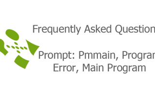 Prompt: Pmmain, Program Error, Main Program