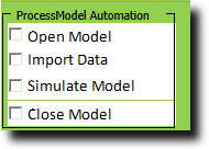 Setting up the automation for ProcessModel custom interface.