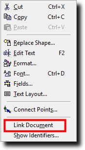 Right-mouse-click to link the iinterface to the model for a ProcessModel custom interface.
