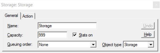 General tab on properties dialog for storage