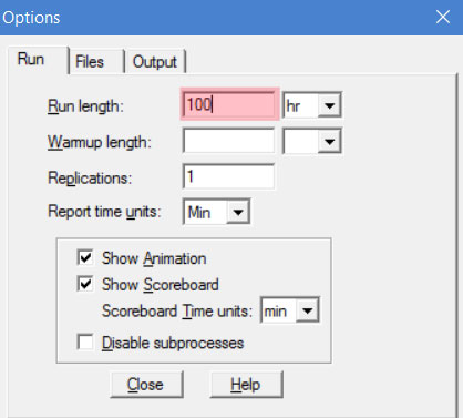 Simulation Options