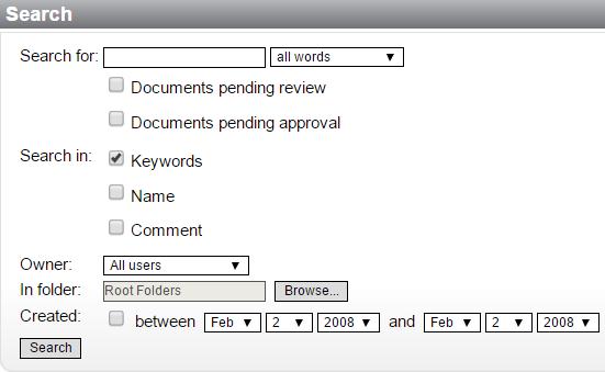 advanced search window screenshot