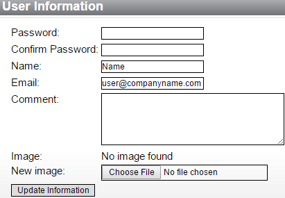 edit user information in processmanager