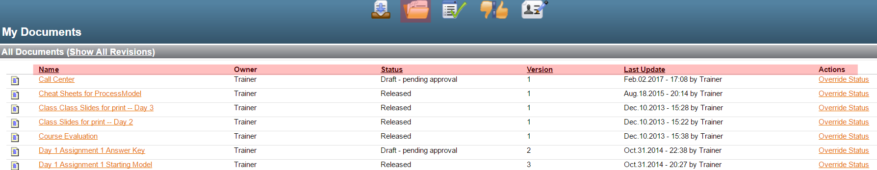my documents view and sorting ability