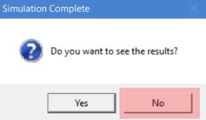 Simulation complete prompt