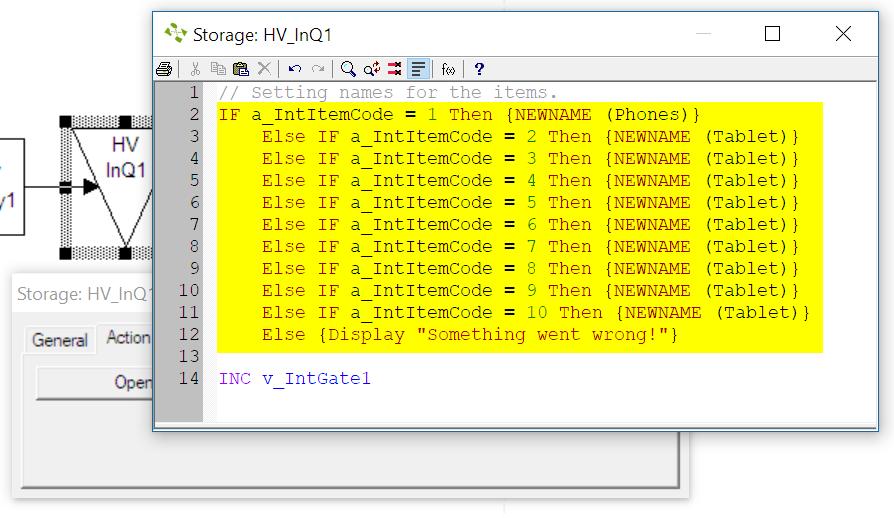 change logic in hv inq1
