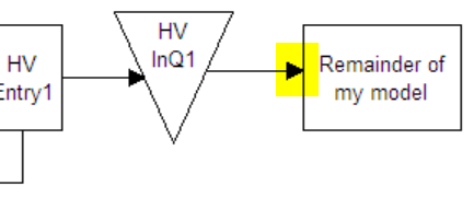 connect hv inq1 to your model