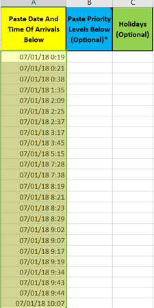 copy row data a in Daily Pattern Arrivals