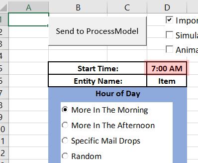 enter start time processmodel disaster arrivals