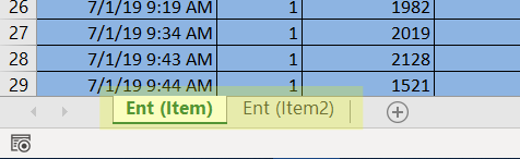 entity names tab in Import Scheduled Arrivals