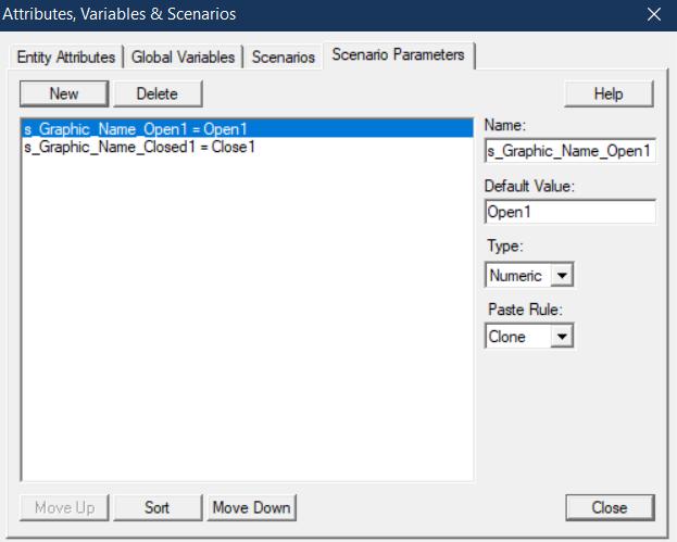 scenarios window for gates