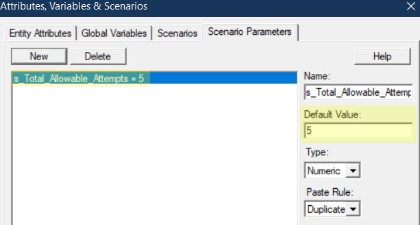 change total attempts value scenario paramter