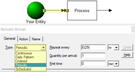 choose entity arrival Over Time Threshold Report