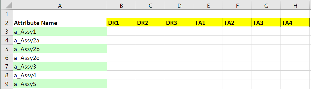enter assembly codes scheduled arrivals with table input