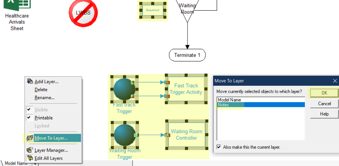 move to notes layer in triage