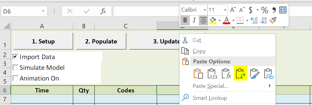 paste attribute scheduled arrivals with table input