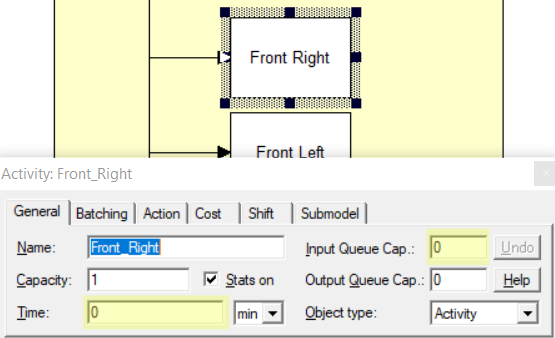 setting time and input queue on task activites