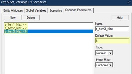 change scenarios in Specific Quantities in Sequence