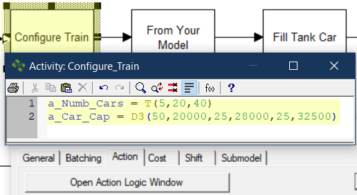 define attributes in Tank to Rail Car