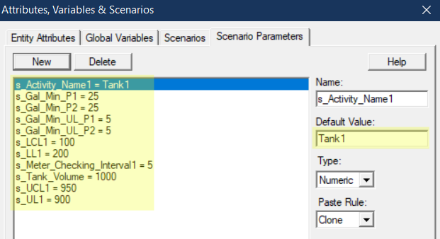 set scenario parameter values in Controlling Fluid Levels in a Tank