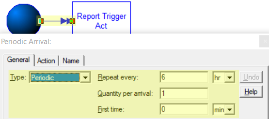 update arrivals in Capturing Output Reports