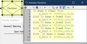 Routing with Percentages Based on Name action logic