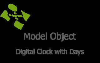 Digital Clock with Days fi