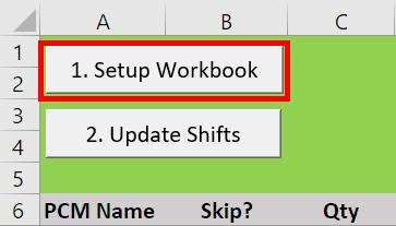 VAO Schedule Planner setup workbook