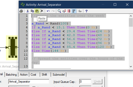 add action logic to Lab Arrivals with Priority