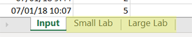 select small or large lab in Lab Arrivals with Priority