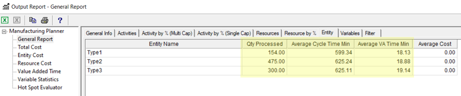 entity tab with 1 res missing in Manufacturing Planner
